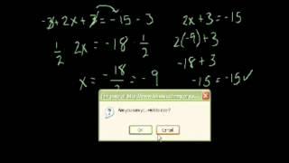 Алгебра. Линейные уравнения 2