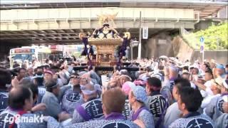 平成28年 亀戸香取神社大祭 本社神輿渡御 亀戸駅