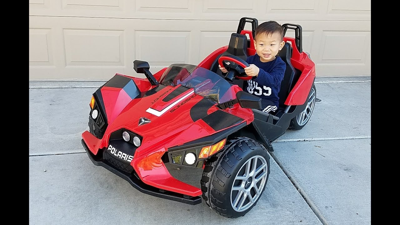 Peg Perego Ride On Toys >> Toddler Unbox Assemble Drive Peg Perego Polaris Slingshot 12v