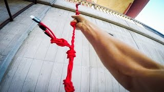 PARKOUR POV CLIMBING BUILDINGS WITH ULTIMATE GRAPPLING HOOK | GoPro HERO5