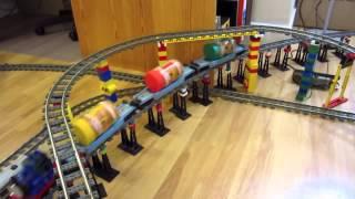 видео Железная дорога игрушка