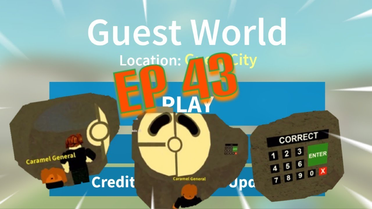 Roblox Guest World Episode 43 The Code To The Vault Youtube