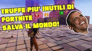 TOP 3 TRUFFE SCOMPARSE DA FORTNITE SALVA IL MONDO!!!!