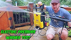 Trying Electric Pressure Washer for the First Time!