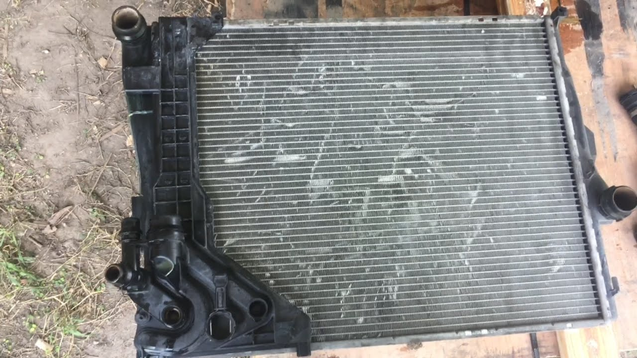 hight resolution of e46 bmw radiator replacement diy