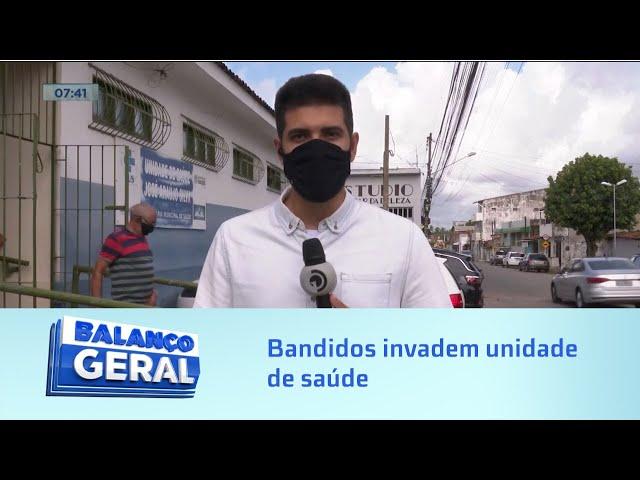 Invasão a posto: Bandidos invadem unidade de saúde, quebram vacinas e furtam eletrodomésticos