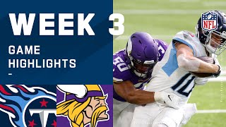 Titans vs. Vikings Week 3 Highlights | NFL 2020