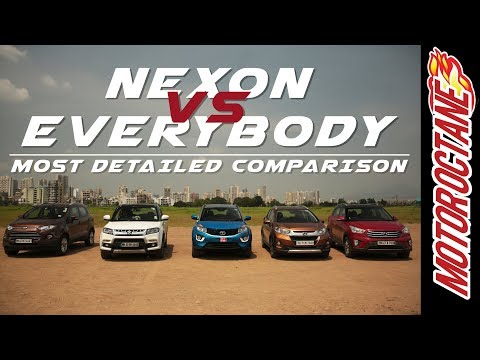 Tata Nexon vs Vitara Brezza vs Hyundai Creta vs WRV Vs EcoSport | Detailed Comparison - हिन्दी में