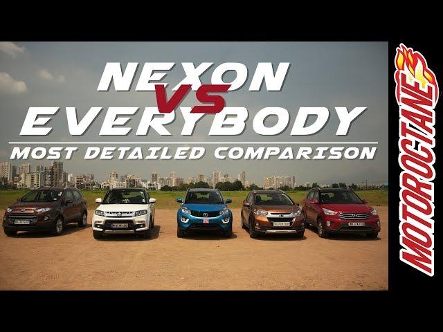 Tata Nexon Vs Ford Ecosport Vs Maruti Vitara Brezza Vs Honda Wrv Vs