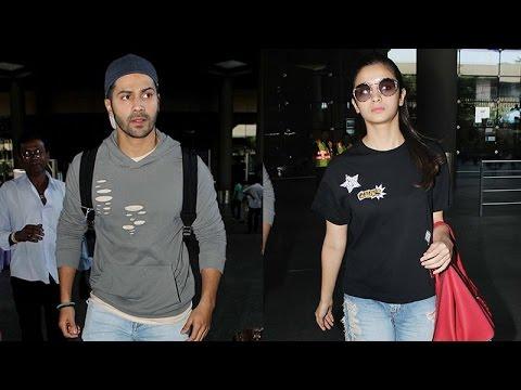 Alia Bhatt and Varun Dhawan return from Singapore in style Mp3