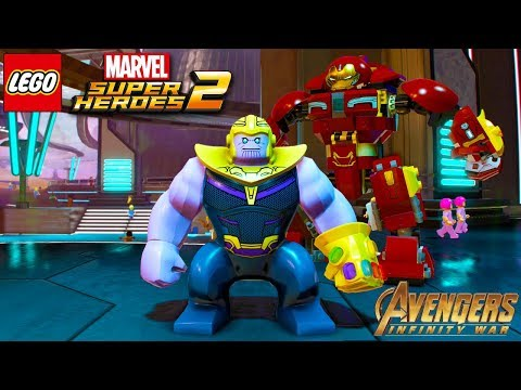 LEGO Marvel Superheroes 2 All Avengers Infinity War Characters Unlocked + Free Roam Gameplay