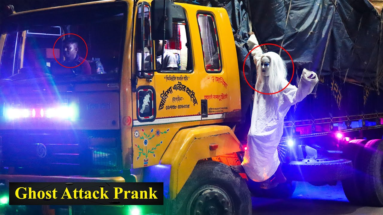 """Scary Ghost Attack Prank at NIGHT 