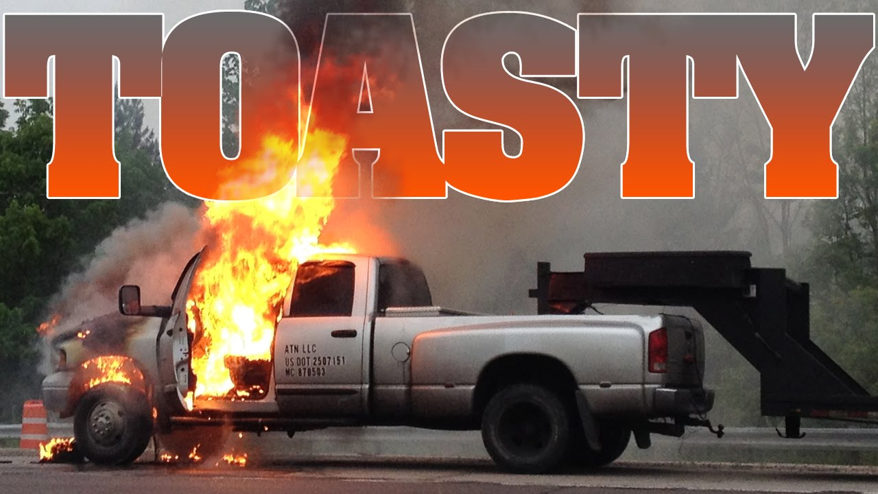 Dodge Ram Trucks >> Cummins Turbo Diesel catches fire 5-21-15 - YouTube