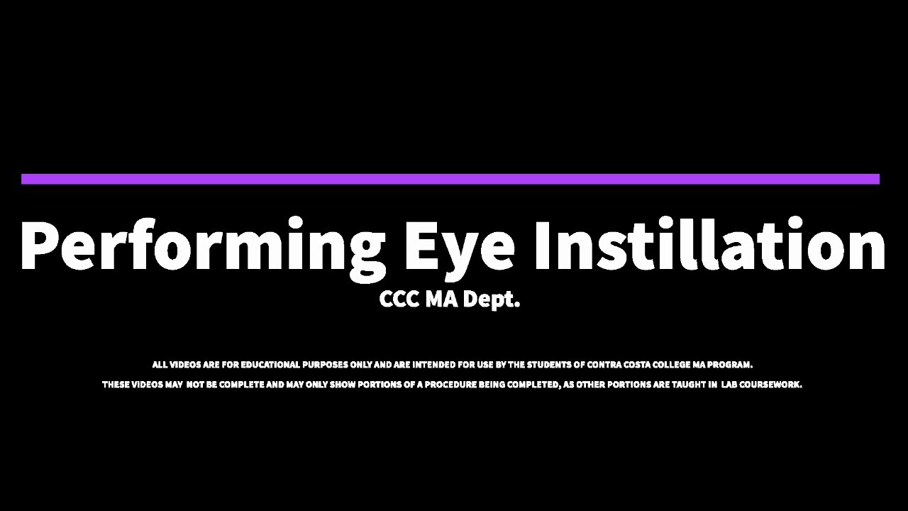 Download Eye Instillation