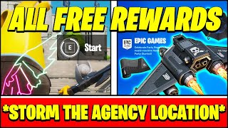 *ALL* STORM THE AGENCY CHALLENGES & FREE REWARDS & LOCATIONS (Fortnite)