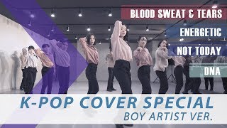 [ K-POP COVER SPECIAL ] BOY ARTIST - 피 땀 눈물 & Energetic &  Not Today & DNA
