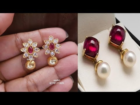 gold-pearl-earring-designs-2019