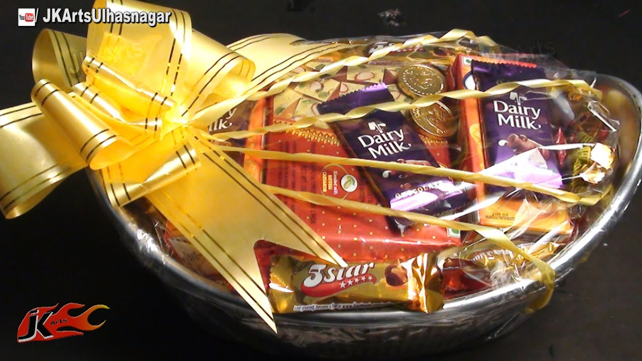 Diy gift basket packaging idea how to jk arts 646 youtube negle Image collections
