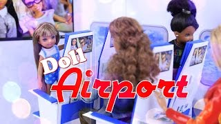 DIY - EASY | How to Make: Doll Airport Multi Room Folding Dollhouse - Simple and Portable - 4K