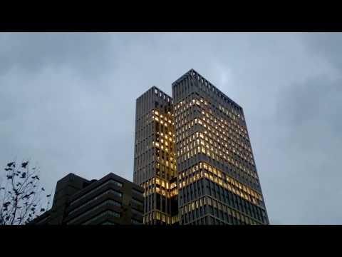 Walking around central station Rotterdam