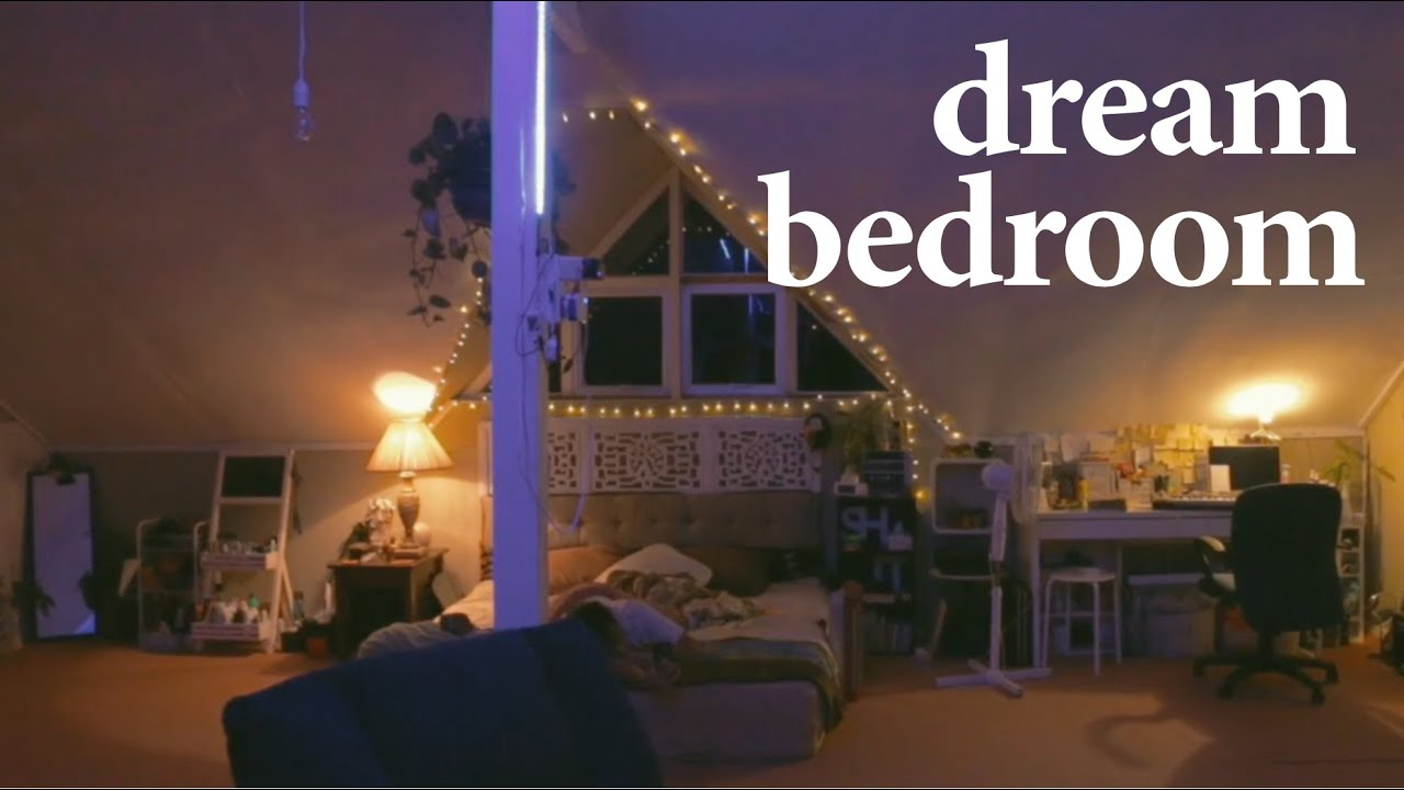 my dream bedroom (roomtour) / extreme attic makeover - YouTube