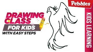 How to draw a bird line drawing | Easy Step by step drawing | Christmas special Drawing for kids