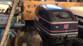1994 Evinrude 9.9hp outboard motor tank test