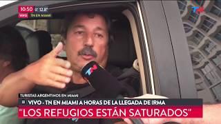 Los turistas argentinos varados en Miami por el huracn Irma