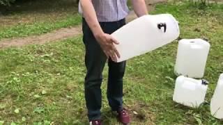 Обзор немецкой канистры для воды с краном на 20 литров