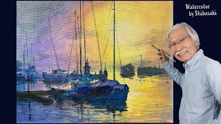 How to paint a seaside scene with acrylic paints | Calming art
