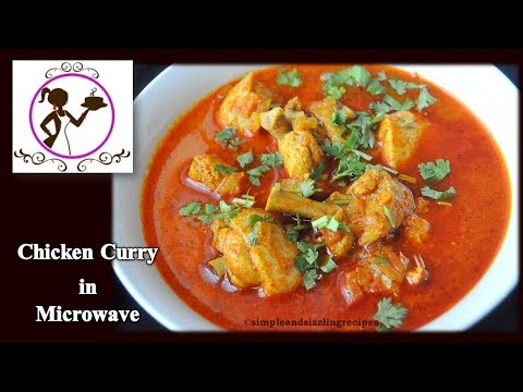 Chicken Curry In Microwave Oven | Bengali Patla Murgir Jhol | Quick Easy Microwave Chicken Recipe