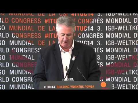 Dave Noonan addresses ITUC