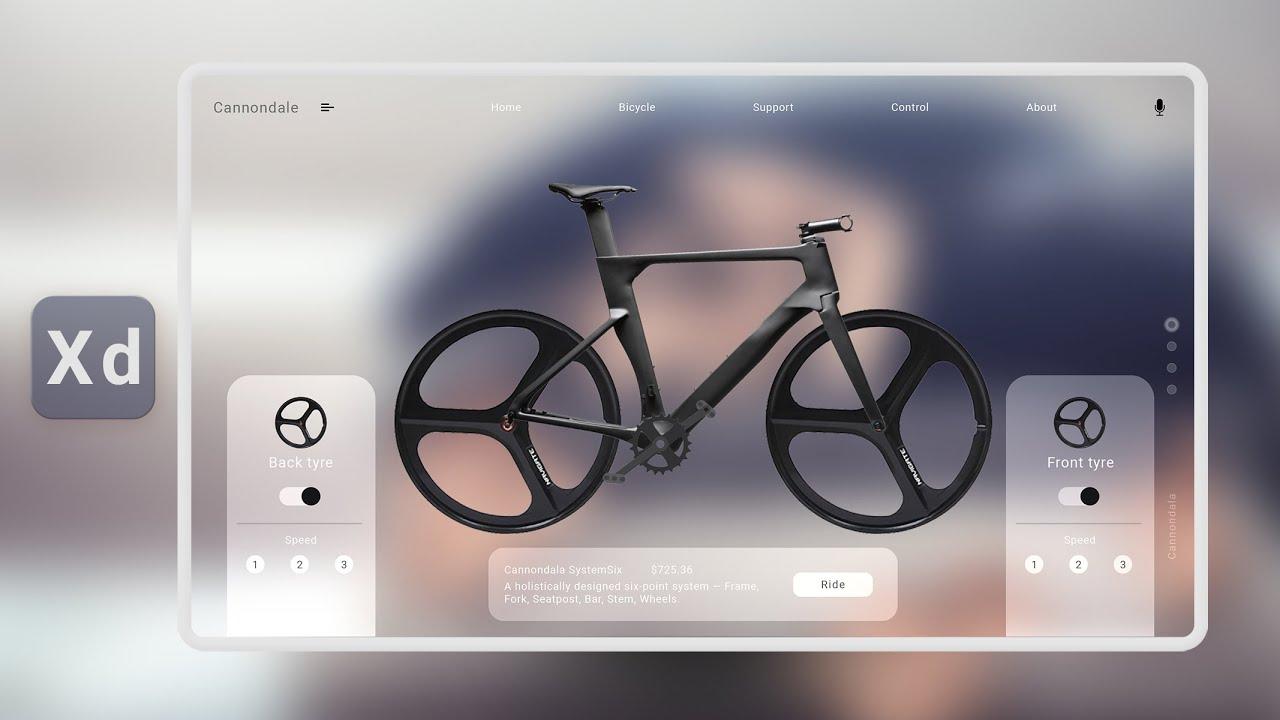 Bicycle tire speed test website design using Adobe Xd.