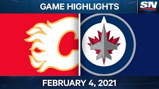 NHL Game Highlights | Flames vs. Jets - Feb. 4, 2021