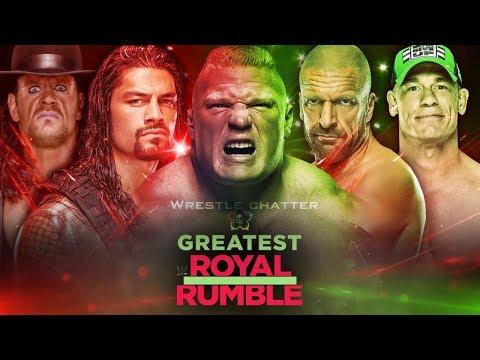 WWE Greatest Royal Rumble Winners ! 50 Man Royal Rumble Match ! Brock Vs Roman ! Taker Vs Jericho !