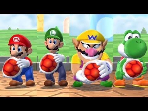 Mario Party 9 - Minigames - Mario VS Luigi VS Wario VS Yoshi