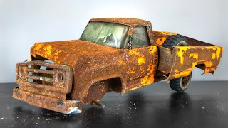 Restoration Tonka Pick Up Truck 1975s - very rusty and old