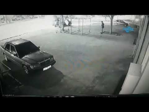 Kaza Anı Güvenlik Kamerasına Yansıdı