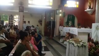 Padre Gabriel  agradece su llegada a Sihuapan, Veracruz