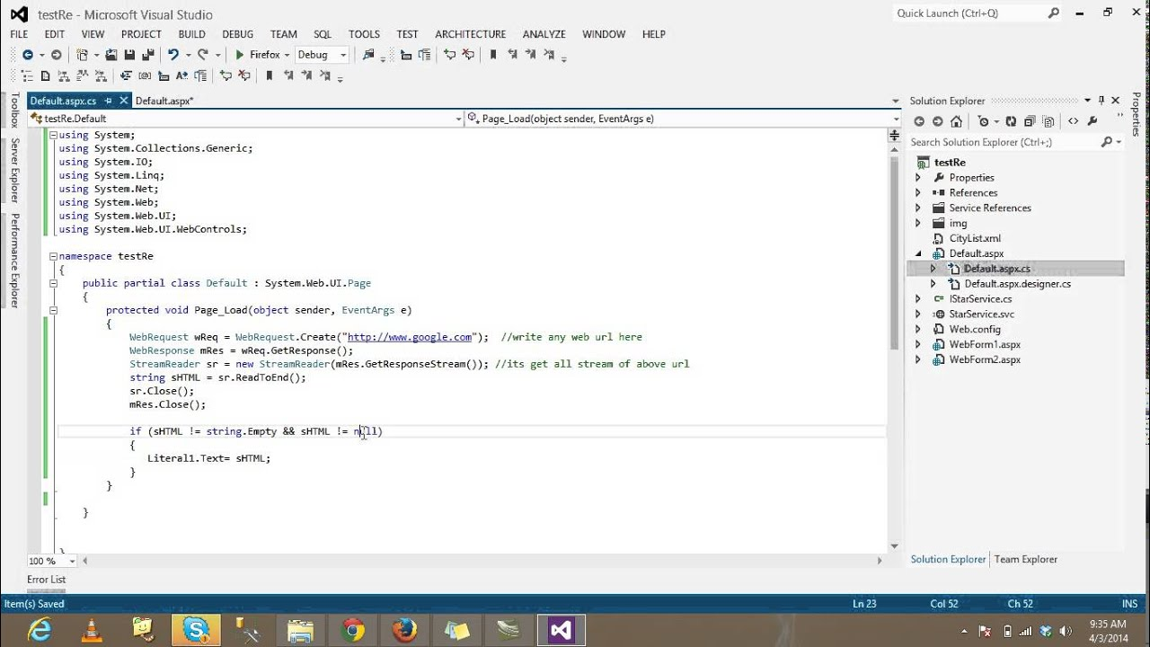 Display info from other website on your web page using c youtube - Asp net home page design ...