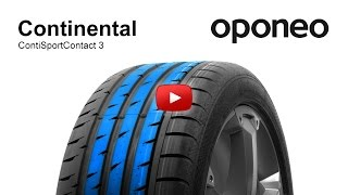 Tyre Continental ContiSportContact 3 ● Summer tyres ● Oponeo™