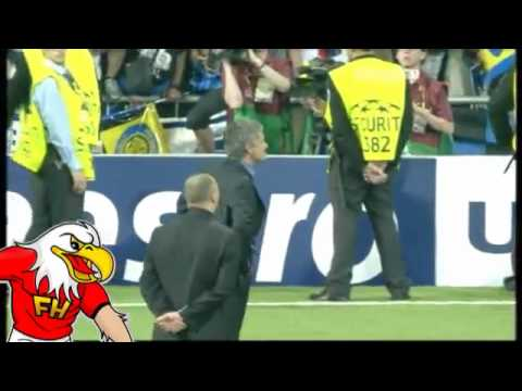 Bayern Munich 0-2 Inter Milan - Jose Mourinho Crying and Celebrations.flv