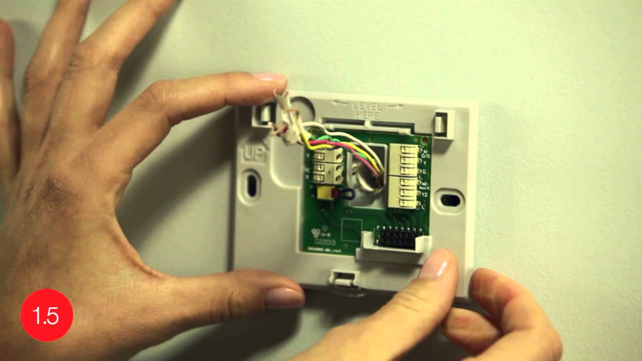 Install the Honeywell WiFi smart thermostat with the help