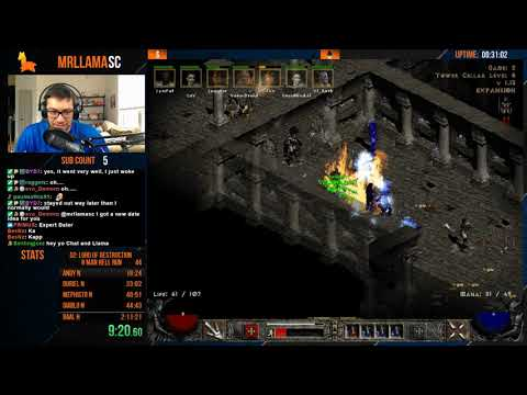 [WORLD RECORD] Diablo 2 - 8 Man Hell Speedrun - 2:07:24