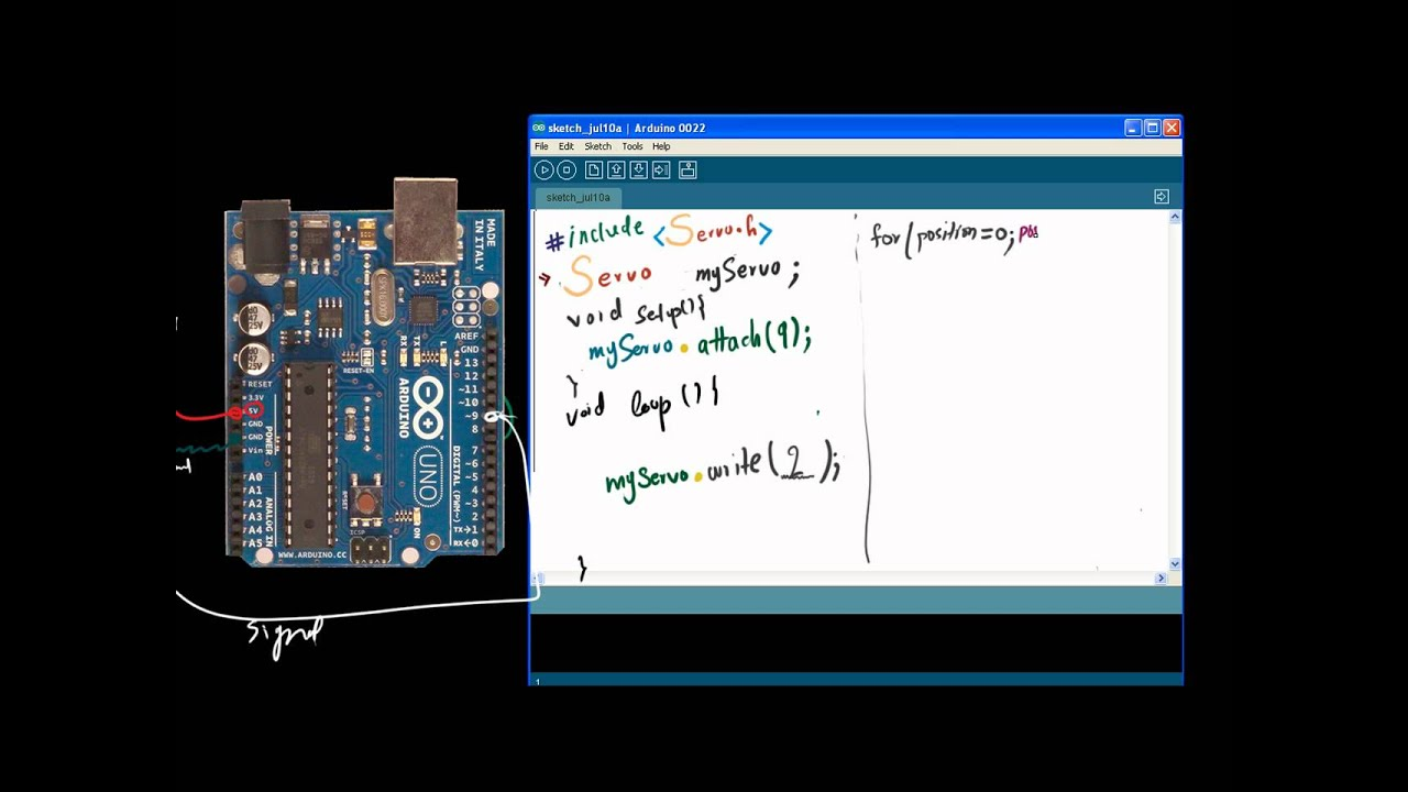 Arduino tutorial programming the servo using