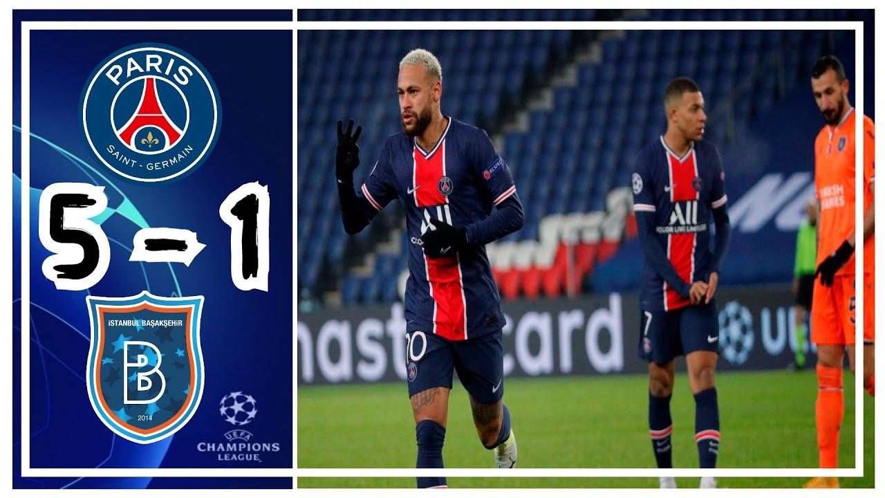 Paris Saint-Germain 5-1 Istanbul Basaksehir: Neymar scores hat-trick as teams unite for anti-racism stand || PEAKVIBEZ