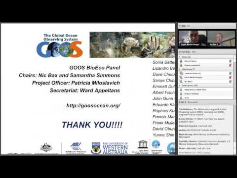 GOOS Webinar: Towards a coordinated a global marine biodiversity observing system