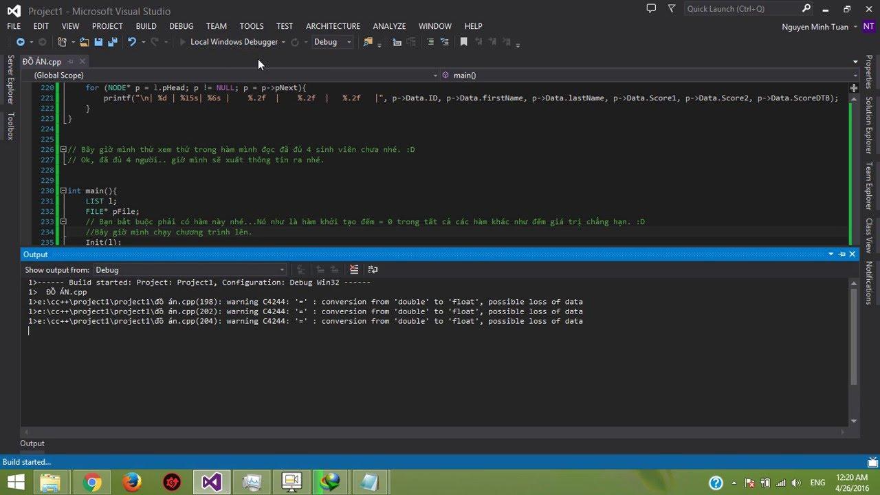 [C/C++] Danh sách liên kết.. Quản lý Sinh Viên