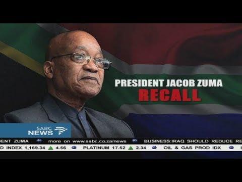 Jacob Zuma's recall