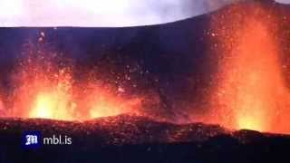 Iceland Volcano erupts - Dramatic Video